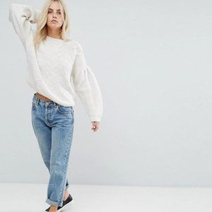 ASOS | Sweater in Cable With Volume Sleeves Size 6